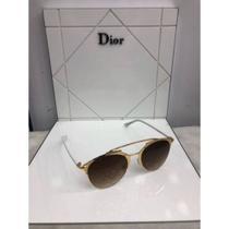 9f15d1862 óculos de sol dior reflected dourado branco 85Ldc