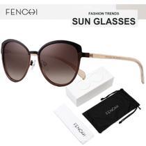 Oculos de Sol Feminino Lente Polarizada UV400 - Fenchi 2 White Gray - Malissima