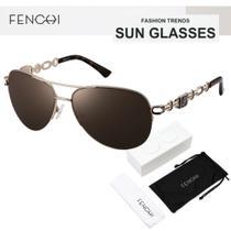 Oculos de Sol Feminino Lente Proteção UV400 - Fenchi 6 Brown -