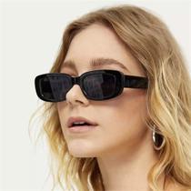 Óculos de Sol Gatinho Quadrado Rare Unissex Retro Preto  Retangular - Bw Company