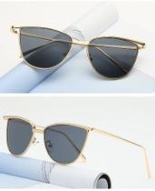 b73494497 Óculos de Sol Luxoso Formato de Gatinho Armação De Metal Vintage - Vinkin