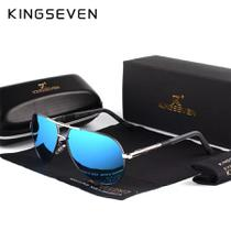 Óculos De Sol Masculino Kingseven Modelo K725 Com Lente Polarizada Estilo Aviador -