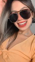 óculos escuro de sol grande lindo para mulher da moda luxo - Prsr