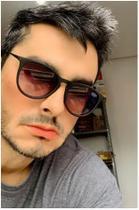 Óculos escuro de sol modelo masculino estiloso lente preta - Prsr