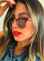 Óculos Escuro Lente Preta Quadrado Retro Tendencia Importado - Prsr