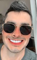 Óculos Escuro Masculino Hexagonal Quadrado Verão 2020 Barato - Prsr