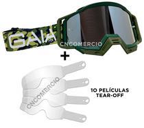 Óculos Gaia Mx Pró Army Militar + 10 Película Tear Off -