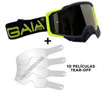 Óculos Gaia Mx Pró Black Light + 10 Película Tear Off -