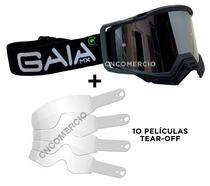Óculos Gaia Mx Pró Carbon + 10 Película Tear Off -