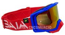 Óculos Gaia Mx Pró Motocross Vermelho Macaw Lente Camaleão -