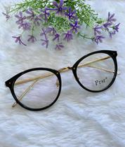Óculos Lente Clara Transparente Dia Dia Armação Sem Grau - Prsr