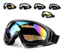 Óculos Proteção Neve Jet Ski Snowboard Paintball Preto - Lupan