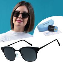 Oculos Sol Polarizado Club Preto Feminino Verão - Isabela Dias