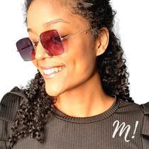 Óculos solar feminino mimo frida rosê e dourado -