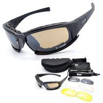Óculos Tático militar Daisy X7 - 4 Lentes - 1 polarizada -