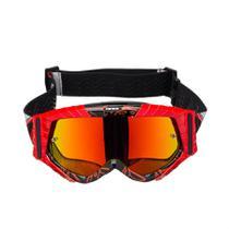 6e4981433 Óculos Texx Raider MX Vermelho/Preto Lente Iridium