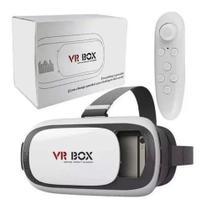 Óculos Virtual Box 3d Com Controle Filmes E Jogos Reality - VR Box -