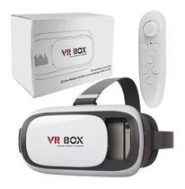 Óculos Virtual Box 3d Com Controle Filmes E Jogos Reality - VR Box