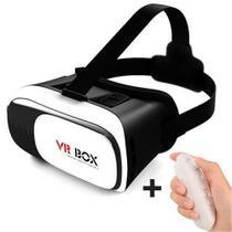 Óculos VR Box 2.0 Realidade Virtual 3D + Controle Bluetooth - Ojuara -