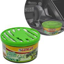 Odorizante Gel Automotivo Luxcar New Fresh Evolution Citrus Cheirinho Flor de Limão 60g -