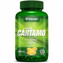 Óleo de Cártamo com Vitamina E -  120 Cápsulas - Herbamed -