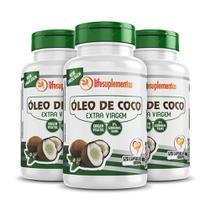 Óleo De Coco 3x120 Cápsulas 1000mg Extravirgem Prensado A Frio - Melcoprol