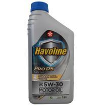 Óleo Lubrificante do Motor Texaco Havoline Pro DS SAE 5W30 Api SN 100% Sintético Tecnologia Escudo Protetor - 1L -