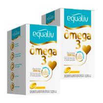 Ômega 3 - 2 un de 120 Cápsulas - Equaliv -