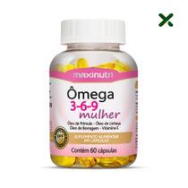 Ômega 3 6 9 Mulher Linhaça Prímula Borragem Vitamina E 60 Cáps Loja Maxinutri -