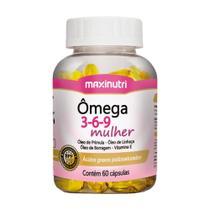 Ômega 3 6 9 Mulher Linhaça /Prímula/ Borragem / Vitamina E 60 Cáps - Maxinutri -