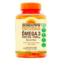 Ômega 3 Fish Oil - 320 Cápsulas - Sundown - Sundown naturals