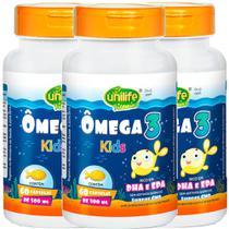 Ômega 3 Kids 60 cápsulas de 500mg Kit com 3 - Unilife