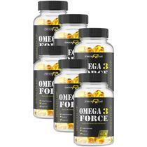 ômega 3 kit com 6 potes de 120 cápsulas - F2 Force Full óleo de peixe -