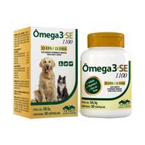 Omega 3+se 1100 30 Cápsulas Vetnil Suplemento Cães E Gatos -
