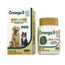 Omega 3+SE 550 30 cápsulas Vetnil Suplemento Cães e Gatos -