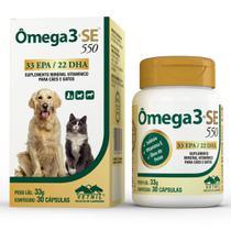 Omega 3 + SE 550mg Vetnil com 30 Comprimidos -