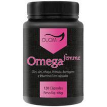 Omega Femme - Prímula, Borragem, Linhaça Vitamina E 120 Capsulas  Duom -