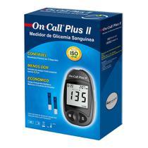 On Call Plus II Kit Monitor de Glicemia com 1 Monitor + 10 Lancetas + 1 Lancetador - Medlevensohn