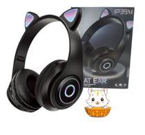 one Ouvido Headphone Orelha Gato Bluetooth Dobravel Led - CAT EAR
