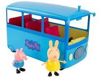 Ônibus Peppa Pig Escolar Roda Livre - Sunny Brinquedos 3 Peças com Acessórios