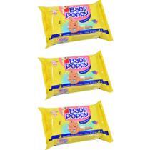 Opus Baby Poppy Premium Toalhas Umedecidas C/100 (Kit C/03) -
