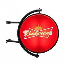 Orbite Luminoso Dupla Face Giratório Cerveja Budweiser Outdoor - Mundo De Led