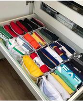 Organizador Colmeia para Camisas e Roupas 6 divisórias (20 peças) - Cia Das Capas