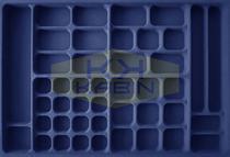 Organizador de bijuterias Lar x Comp x Alt: 734 x 490 x 45mm PJ-63 - Moldplast