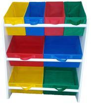 Organizador de Brinquedos Infantil Médio Montessoriano Multicolor - Organibox