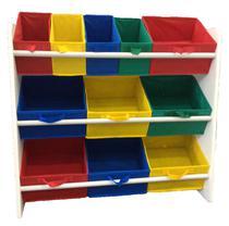 Organizador de Brinquedos Infantil OrganiBox Colorido -