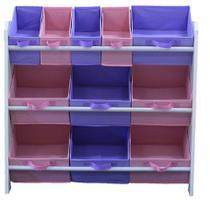 Organizador de Brinquedos Infantil OrganiBox Feminino -