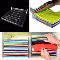 Organizador De Camisetas Roupa Tipo Arquivo Kit Com 10 - Arte D'coração