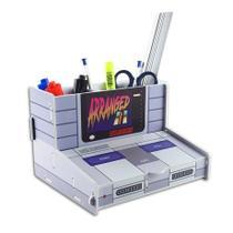 Organizador de Escritório Console Super Nintendo Gamer - Fabrica Geek