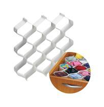 7b8eac42e Organizador de gavetas branco com 6 pecas - colmeia - Injeplastec